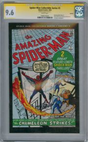 Spider-man Collectible Series #3 CGC 9.6 Signature Series Signed Stan Lee Amazing #1 Marvel comic
